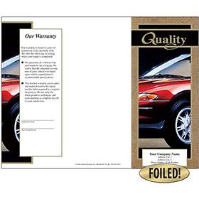 Auto Repair Brochures - Gold Foil