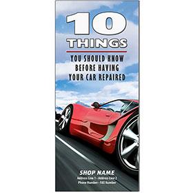 """Auto Repair Brochures - """"10 Things"""" Red Racer"""