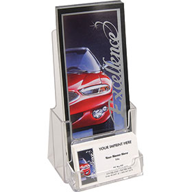 """Brochure Holder - 4"""" with Business Card"""