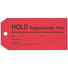 Parts Tags - Supplemental (Red)