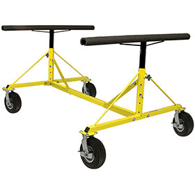 4-Way Dolly with Pneumatic Wheels by PROLific