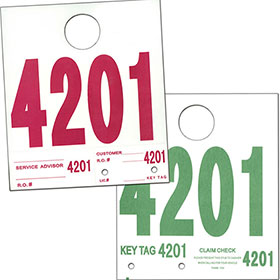 Clearance - Vehicle Control Card Mirror Hangers (500)