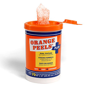 "Orange Peels® Plus 10"" x 12"" Wet Wipes Canister"