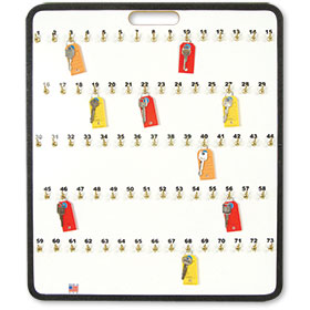Portable Car Key Board with Spring Hooks - 73 Keys