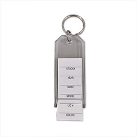 Slip-Slot Plastic Key Tags