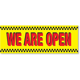 Stand-Out Car Lot Banners - 3' x 10' - WE ARE OPEN