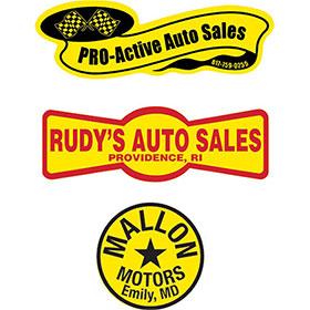 Standard Yellow Custom Car Decals