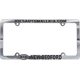 Custom Imprinted Chrome Plated Plastic License Plate Frames - Version 2
