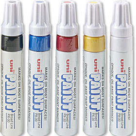 "Uni Paint Oil-Based Marker Kit with 1/4"" Tip"
