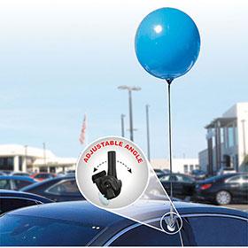 "18"" Premium Reusable Balloon with Adjustable Window Clip Kit"