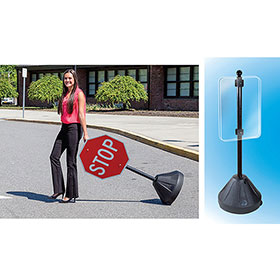 Rolling Sidewalk Sign Holder 58in