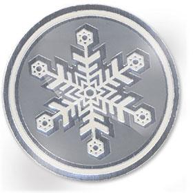 Foil Seal - Silver Snowflake