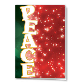 Premium Foil Traditional Christmas Cards - Holiday Peace