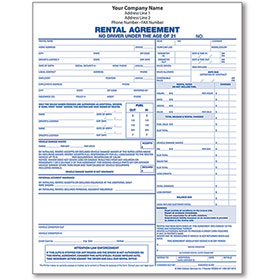 Vehicle Rental Agreement Form