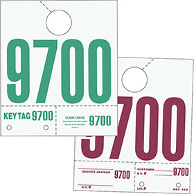 Numbered White Hang Tags