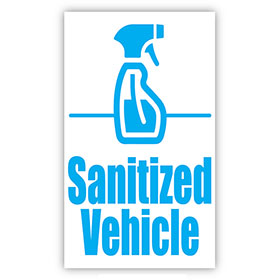 Sanitized Vehicle Static Clings
