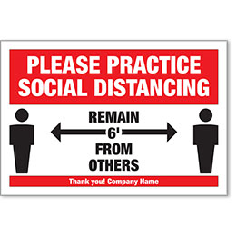 """Remain 6' From Others COVID-19 Personalized Poster 13"""" x 19"""""""