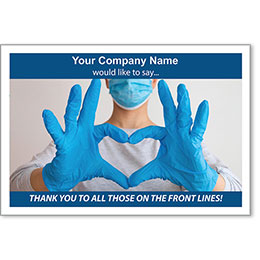 """Thank You to the Front Line Personalized Poster 13"""" x 19"""""""