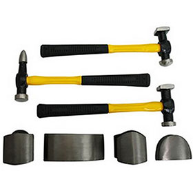 7-Piece Auto Body Hammer & Dolly Set