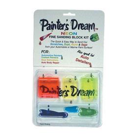 Painter's Dream Neon Fine Sanding Block Kit 3208