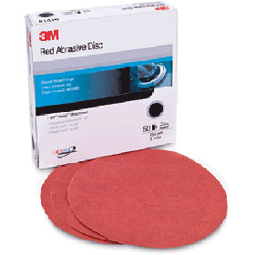 """3M™ Red Abrasive 6"""" Hookit™ Discs P320 01219"""