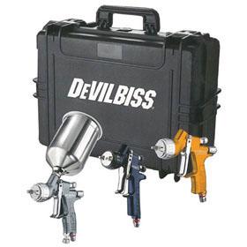 DeVilbiss Premium Paint Gun Kit - Clearcoat, Primer & Basecoat 704239