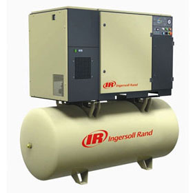 Ingersoll Rand 15HP (150 PSI) 120-Gallon Rotary Screw Air Compressor with Air Dryer 230-3-60