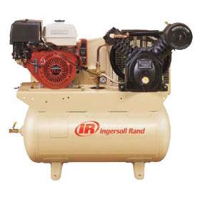 Ingersoll Rand 2-Stage Honda Gas Drive 13HP 30-Gallon Horizontal Air Compressor with Alternator