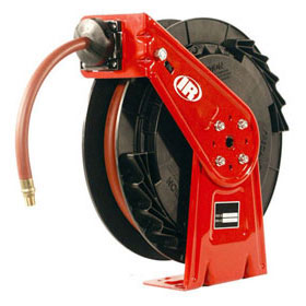 "Ingersoll Rand Low-Pressure Heavy-Duty Industrial Hose Reel 3/8"" X 50'"