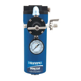 Sharpe Regulator with Gauge - 5 Micron