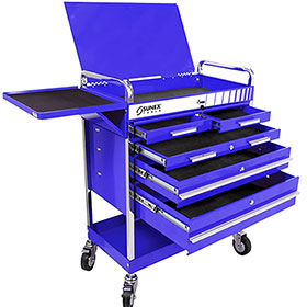 Sunex Tools Professional 5-Drawer Service Cart Blue 8045BL