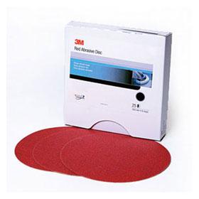 "3M™ Red Abrasive Stikit Disc, 8"", 25 discs/box"