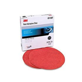 """3M™ 6"""" Red Abrasive Hookit Discs"""