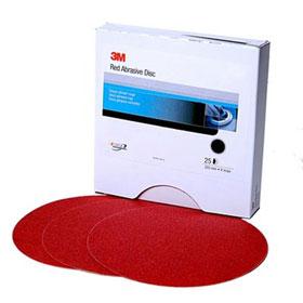 """3M™ 8"""" Red Abrasive Hookit Discs"""