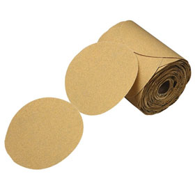 "3M™ Stikit Gold Disc Roll, 6"", P100 Grit, 125 discs/roll 01442"