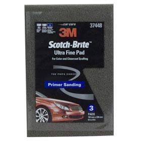 """3M™ Scotch-Brite Ultra Fine Hand Pad Gray, 6"""" x 9"""", 3 pads/pack 37448"""