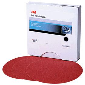 "3M™ Red Abrasive 6"" Stikit Discs"