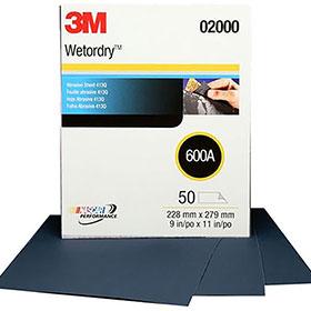 """3M™ Wetordry Tri-M-ite 9"""" x 11"""" Sanding Sheets"""