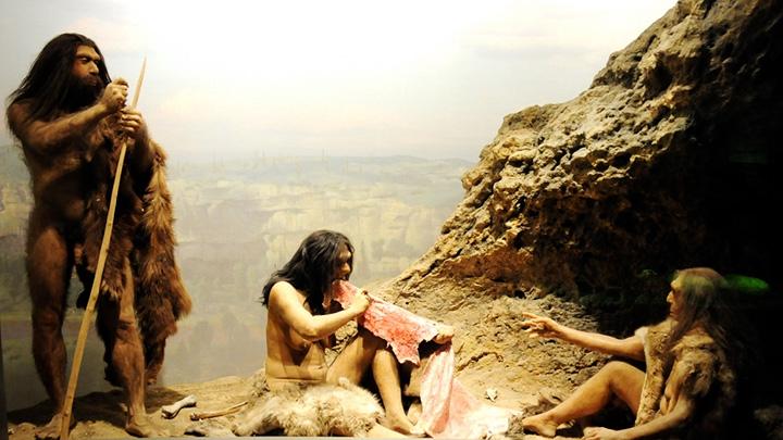 prehistoric man scene