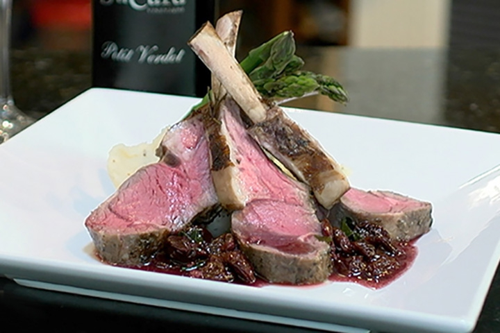 rack of lamb chops on plate