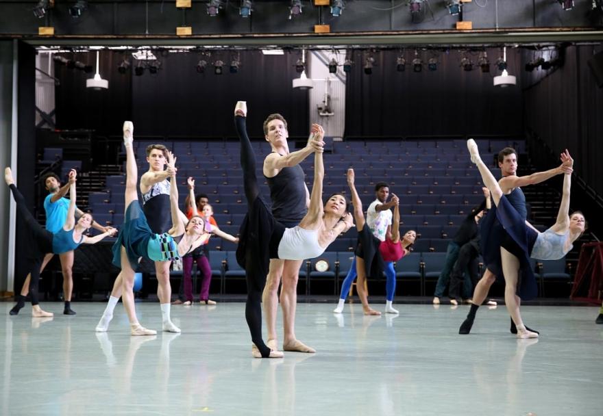 Richmond Ballet Studio dancers practicing