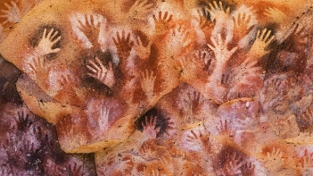 cave hand painting art