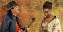 "Carlos Santana makes magic with the singer Buika on his latest release ""Africa Speaks."""