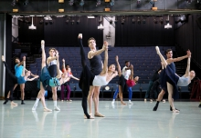 Richmond Ballet Studio dancers practicing