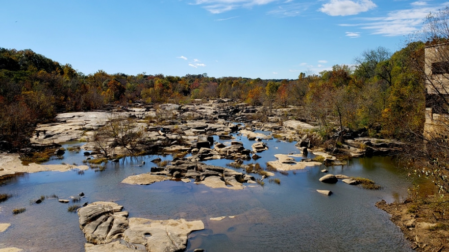 On the southside of Belle Isle, visitors can explore rock pools thousands of years in the making.