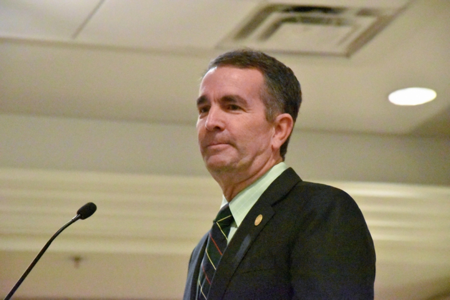 Northam at a conference in March.