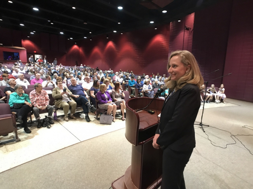 As Washington scrambles to unravel the Mueller report, Seventh District freshman Democratic Congresswoman Abigail Spanberger came home to Henrico last night for a town hall meeting, to answer questions about the report and other issues on constituent's minds.