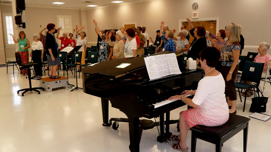 """Salisbury Presbyterian Church recently formed a chorus called """"Joyful Voices"""" for people with dementia and their caregivers."""