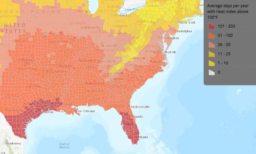 By Midcentury, Virginia Could See 30 Days Per Year With 100 Degree ...