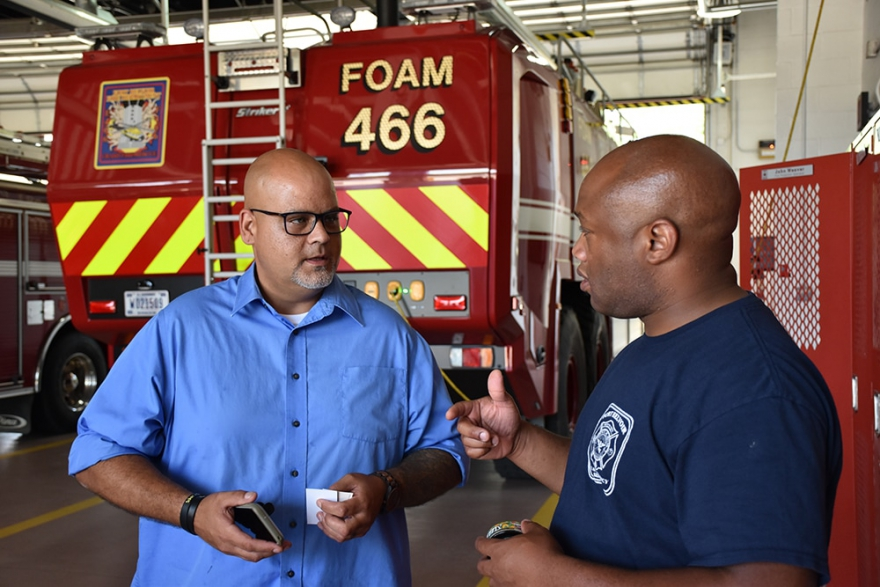 onathan Lang (left) started the Northern Virginia Federal Fire Peer Support Team.